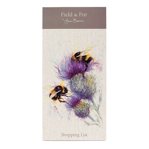 Field and Fur Bees on Thistle Magnetic Shopping List Pad