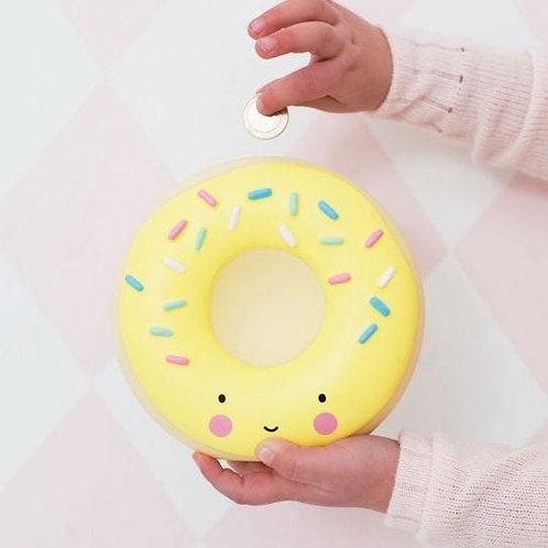 Yellow Donut Money Box