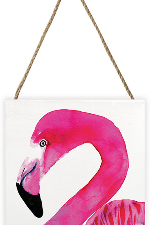 Sofie Rolfsdotter Flamingo Wooden Block