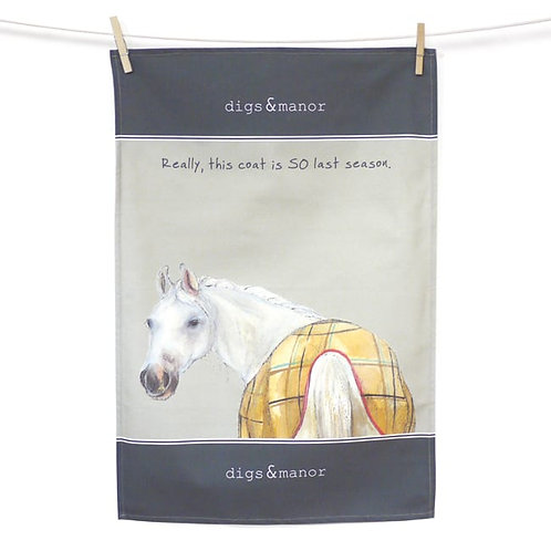 The Little Dog Laughed Horse Tea Towel