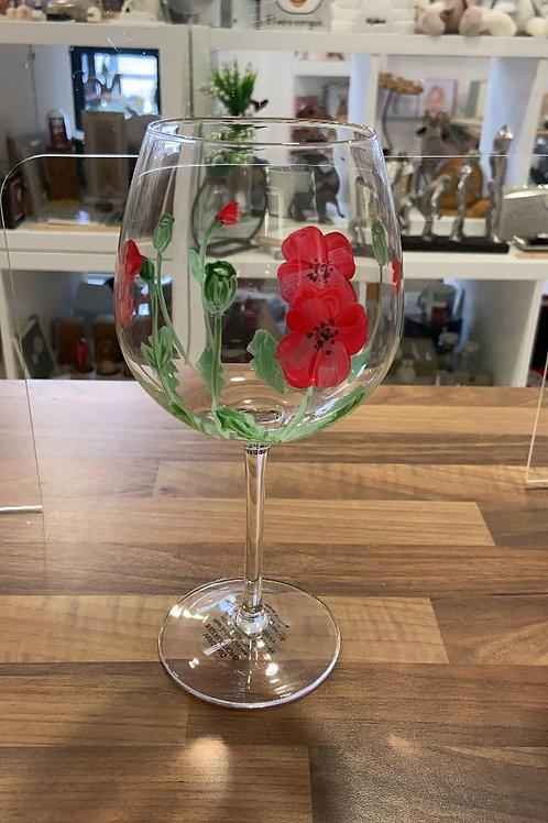 Arty Poppy Gin Glass