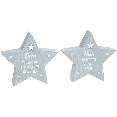 Cool grey standing star - Nan