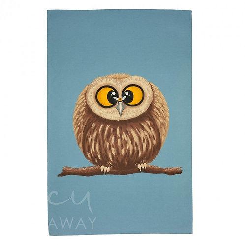 Lucy Pittaway Owl Tea Towel