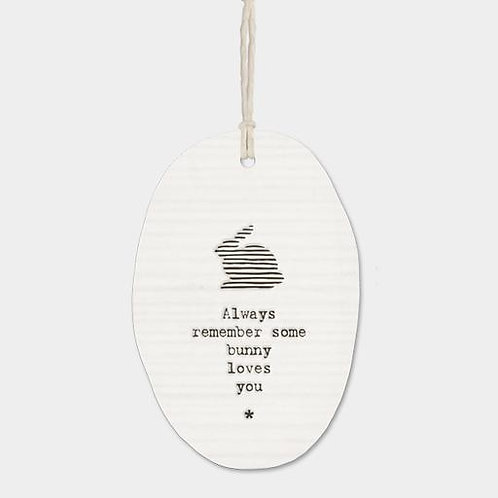 Always remember... Oval Hanger
