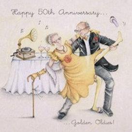 Happy 50th Anniversary Berni Parker Card