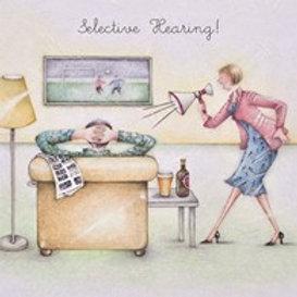 Selective Hearing! Berni Parker Card