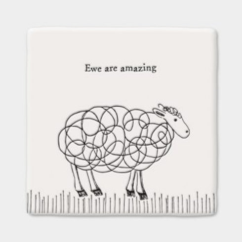 Ewe are amazing Square Coaster