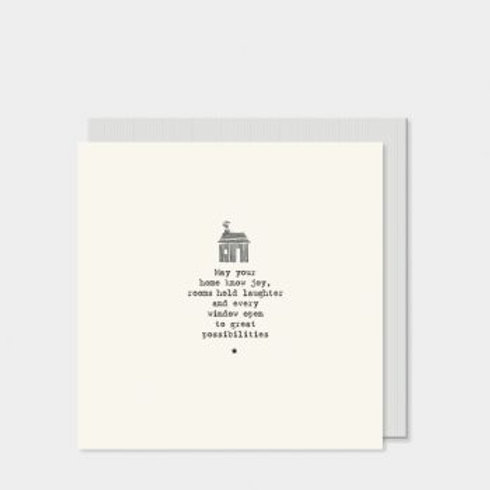 May your home know joy... East of India Card