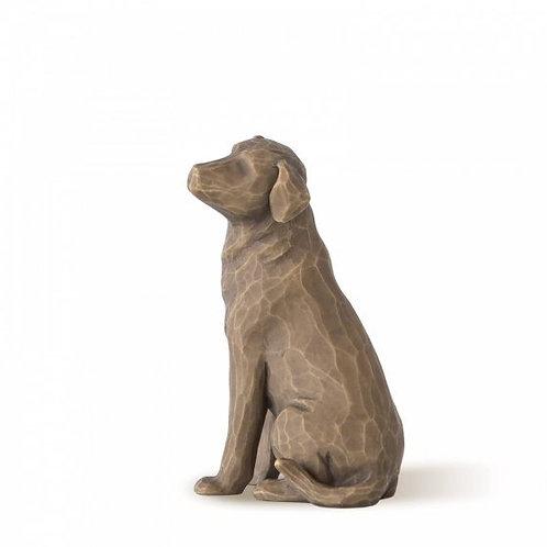 Loving  My Dog (Dark) Willow Tree Figurine