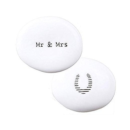 East of India Mr and Mrs Porcelain Pebble
