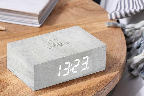 Gingko Flip Click Clock -White Birch