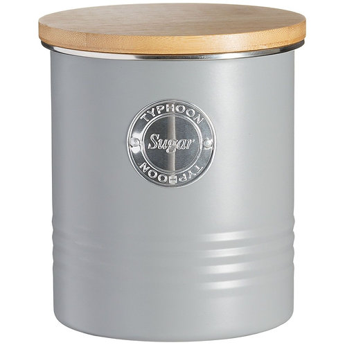 Living Grey Sugar Canister
