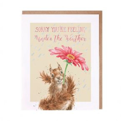 Sorry you're feeling under the weather Wrendale Card