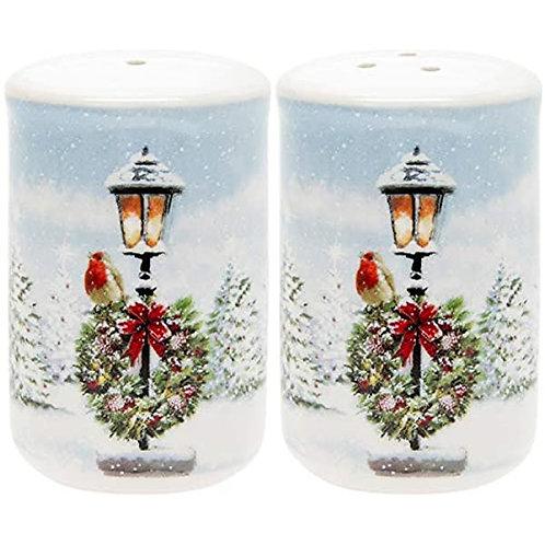 Christmas Robin Salt and Pepper Pots