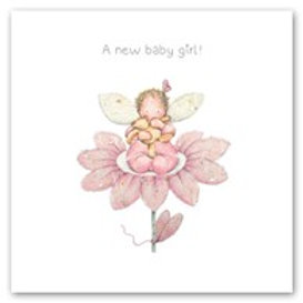 A new baby girl! Berni Parker Card