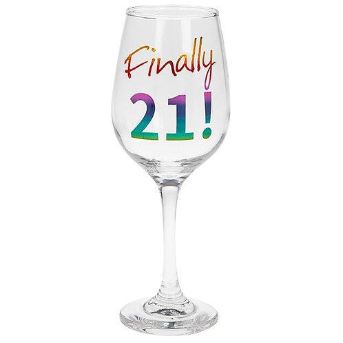 Finally 21! Wine Glass