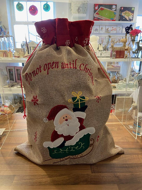 Do not open until christmas Santa Sack