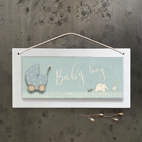 East of India Long Cream Sign - Baby Boy