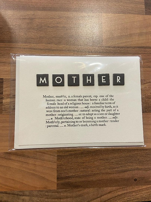 East of India Dictionary Card - Mother