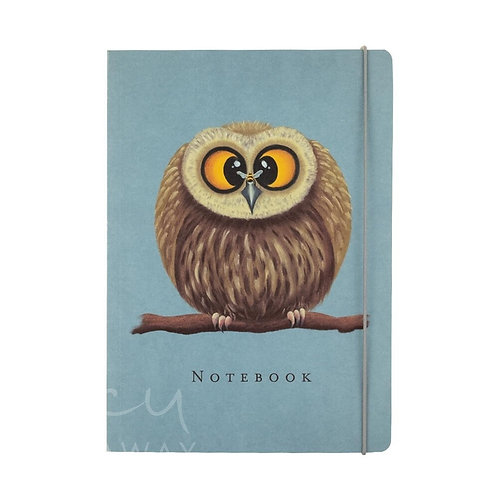 Lucy Pittaway A5 Owl Notebook