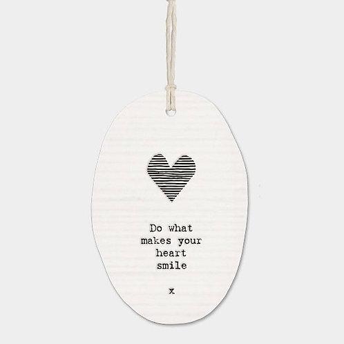 Heart Smile... Oval Hanger
