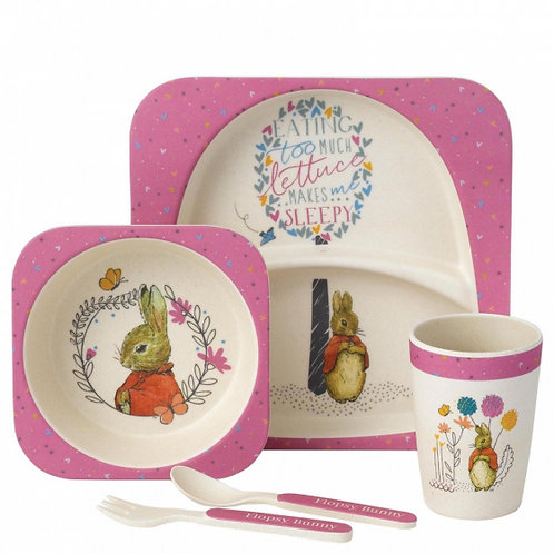 Flopsy Bunny 5 Piece Bamboo Dinner Set