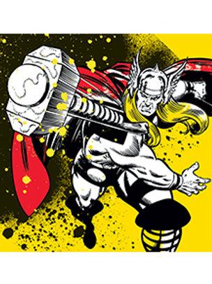 DC Comics Thor Splatter Canvas 40x40cm
