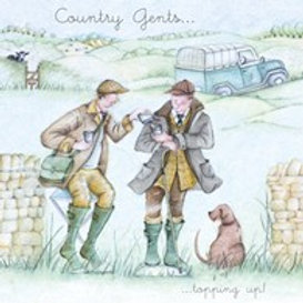 Country gents... topping up! Berni Parker Card