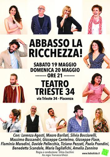 Abbasso la ricchezza! il 19 e il 20 maggio al Teatro Trieste 34, una commedia caustica ed esilarante