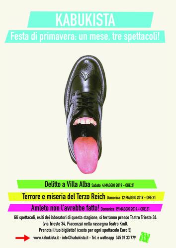 Festa di primavera: un mese, tre spettacoli! Il 4, il 12 e il 19 maggio a Piacenza.