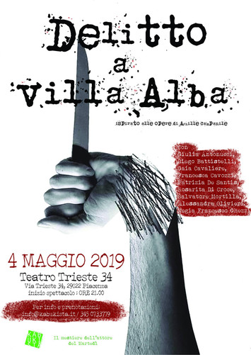 Sabato 4 maggio ore 21, Delitto a Villa Alba! Il primo dei tre appuntamenti di maggio firmati Kabuki