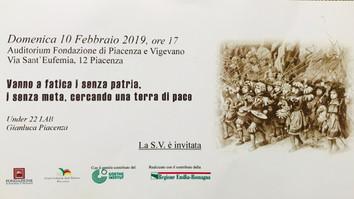 Domenica 10 febbraio, l'Under 22 Lab e Gianluca Piacenza all'Auditorium della Fondazione di
