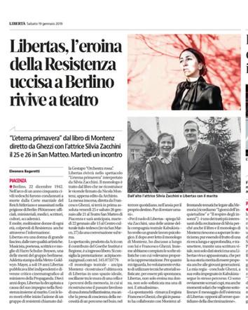Sulla Libertà di oggi un articolo su Libertas  L'eterna primavera!