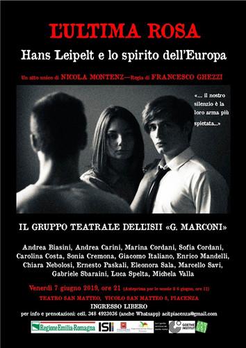L'ultima Rosa: Hans Leipelt e lo spirito dell'Europa - Giovedì 6 Giugno matinée e Venerdi 7