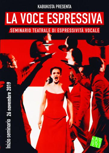 """NUOVO MODULO de """"La voce espressiva"""" Seminario teatrale di espressività vocale, dal 26 nov"""