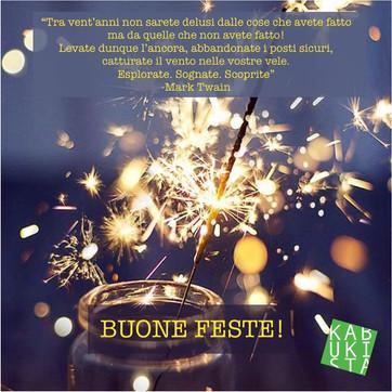 Tanti auguri di buone feste! Dal 7 gennaio tante novità e qualche sorpresa!