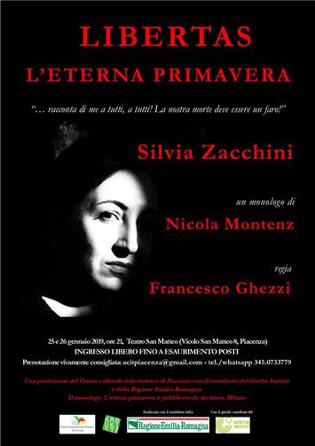 LIBERTAS - L'ETERNA PRIMAVERA. La prima, Venerdì 25 e Sabato 26 gennaio, ore 21 al Teatro San Ma