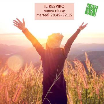 Il Respiro. Classe del lunedì completa. Nuova classe da martedì 13 ottobre