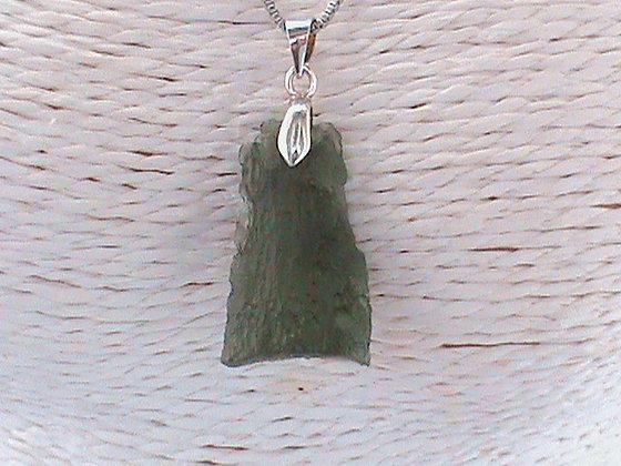Pendentif sans chaîne argent 925 moldavite.