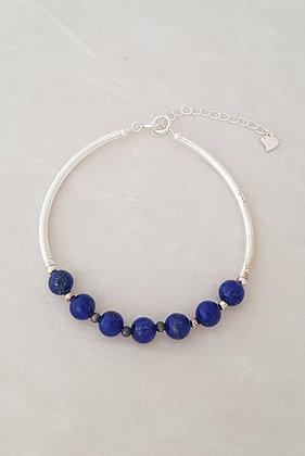 Bracelet argent 925 lapis lazuli
