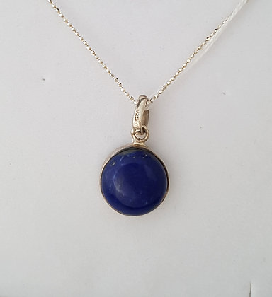 Pendentif argent 925 lapis lazuli.
