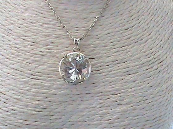 Pendentif sans chaîne argent 925 cristal de roche.