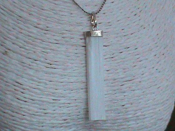 Pendentif sans chaîne argent 925 pierre sélénite.