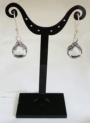 Boucles d'oreilles argent 925 et cristal de roche