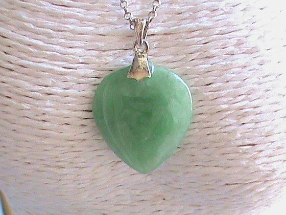 Pendentif sans chaîne argent 925 jade.