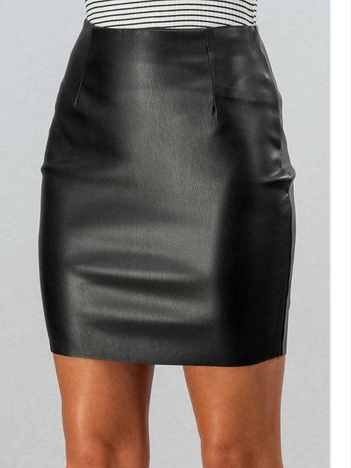 She Ready Faux Leather skirt