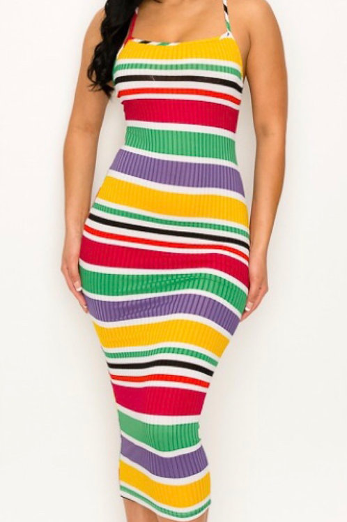 Colorful Stripe Midi