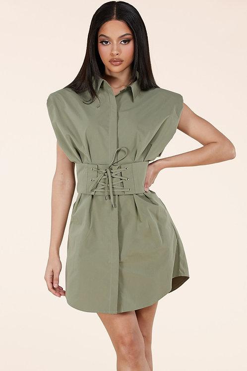 Lacey Shirt Dress