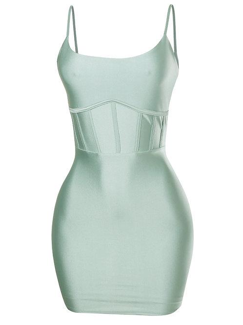 Sage Bodycon Dress