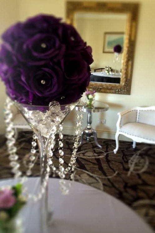 Artificial Purple Rose Ball